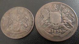Inde Britannique / East India Company - 2 Monnaies : Quarter Anna 1832, Half Anna 1835 - Colonie