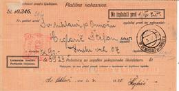 Slovenia SHS 1920 Postal Money Order Sv.Miklavž Ormož, Postage Due Provisory: Chainbreakers 10v As Postage Due!! - Slovenia