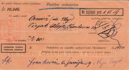 Slovenia SHS 1920 Postal Money Order  Ormož, Postage Due Provisory: Chainbreakers 20v With Pencil PORTO!! - Slovenia