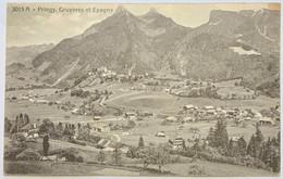 GRUYERES: PRINGY - GRUYERES - EPAGNY, VUE GENERALE... BELLE CARTE - FR Fribourg