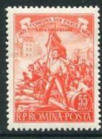 ROMANIA 1956 Paris Commune MNH / **.  Michel 1577 - Unused Stamps