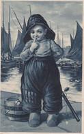 CPA Gaufrée - Enfant Hollandais  - PBF 8258 Relief 8261 Gel (lot Pat 130) - Otros
