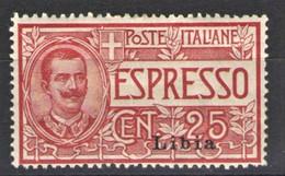 LIBIA 1915 ESPRESSI 25 C. * GOMMA ORIGINALE CENTRATO - Libye
