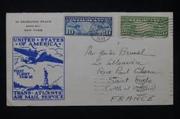 ETATS UNIS - Enveloppe 1er Vol Trans Atlantique De New York Pour La France En 1939 - L 80218 - Briefe U. Dokumente