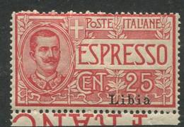 LIBIA 1915 ESPRESSI 25 C. ** MNH - Libye