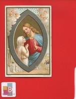 Belle Image Pieuse Religieuse Chromo Boulet Dorée Argentée Souvenir Communion  Marie Angèle Anne église St Joseph Havre - Imágenes Religiosas