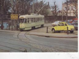 Carte Postale Amis Du Rail Du Forez Tramways De St Etienne Motrice Type PCC Simple N° 528 1980 - Tram