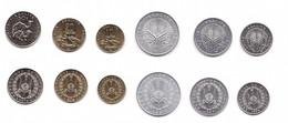 #2 - Djibouti - Set 6 Coins 1 2 5 10 20 50 Francs 1991 - 2016 UNC Lemberg-Zp - Djibouti