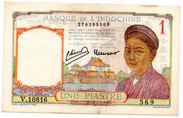Indochine / 1 Piastre ( 1949 ) / TB+ - Indochina