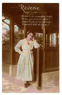 """Femme -- 1916---  """" Rêverie """" ..............femme Avec Jolie Robe - Femmes"""