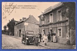 CPA 76 LES ESSARTS - GRAND COURONNE - Route De Rouen à Elbeuf - L'Hôtel Du Coq Gaulois - Other Municipalities