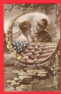 WORLD WAR ONE   PATRIOTIC  A KISS FROM FRANCE  TO   USA TROOPS - Guerra 1914-18