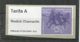 ESPAÑA SPAIN 2020 ATM MUJERES EN EL DEPORTE OLIMPICAS OLYMPIC WOMEN TARIFA A - 2011-... Cartas