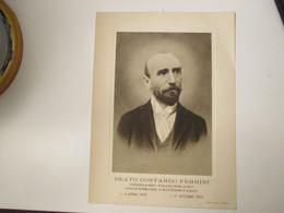 Beato CONTARDO FERRINI Terziario Francescano Professore Universitario 1859 1902 Foto Incorniciata - Other
