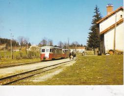 Carte Postale Amis Du Rail Du Forez Tramways De St Etienne CIE CFD Réseau Du Vivarais, Autorail Billard A 150-D1 N°212 - Bahnhöfe Mit Zügen