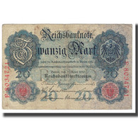 Billet, Allemagne, 20 Mark, 1910, 1910-04-21, KM:31, TB - 20 Mark