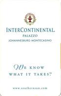 SUD AFRICA  KEY HOTEL      InterContinental Palazzo Johannesburg Montecasino - Chiavi Elettroniche Di Alberghi