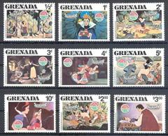 MWD-BK3-132-3 MINT PF/MNH ¤ GRENADA 1980 KOMPL. SET ¤ SNOW WHITE AND THE SEVEN DWARFS -  THE WORLD OF WALT DISNEY - Disney