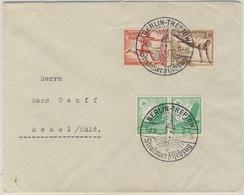 DR - 12+3 Pfg Olympiade Zusammendruck U.a. Brief SST Berlin-Treptow - Beuel 1936 - Se-Tenant