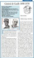 """FR 2020 / 2 FICHES INFO Recto-verso  """"  GENERAL DE GAULLE+GRAVURE SUR METAL+CARNET MON SPECTACULAIRE """" - Unclassified"""