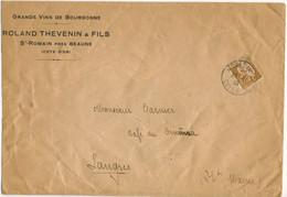 60C PAIX SEUL TARIF IMPRIME 3ème ECHELON DE 50 à 100g 22/11/38 - PEU COMMUN - ENVELOPPE ENTETE GRANDS VINS DE BOURGOGNE - 1921-1960: Modern Tijdperk