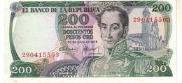 Colombia P.419 200 Pesos 1978  Unc - Kolumbien