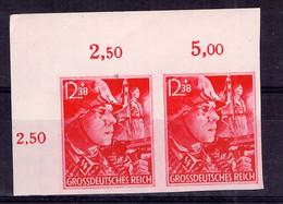 Allemagne/Reich YT N° 826 En Paire Non Dentelés Neufs ** MNH. Signé Schlegel. Rare! TB. A Saisir! - Neufs