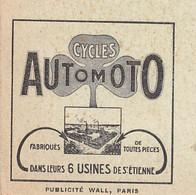 """VINTAGE POSTCARD ±1930 - PUB.CYCLES AUTOMOTO ST-ÉTIENNE- Bologhine - Basilique Notre-Dame D'Afrique """" Lalla Meryem""""   ♦ - Advertising"""