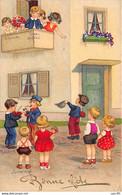 Illustrateurs - N°69205 - Bonne Fête N°3063 - Enfants à Un Balcon Et Dans La Rue - Andere Illustrators
