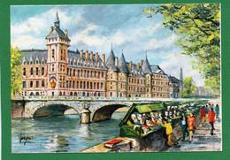75  PARIS - PEDRO VARGAS Illustrateur - La Conciergerie Et Les Bouquinistes CPM 1968 EDIT  N°9 - Straßenhandel Und Kleingewerbe