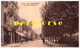 74  Annemasse  La Rue Du Commerce Machines à Coudre Singer - Annemasse