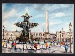 75  PARIS - PEDRO VARGAS Illustrateur -PLACE DE LA CONCORDE,FONTAINE  CPM 1968 EDIT KRISARTS   N°4 - Straßenhandel Und Kleingewerbe