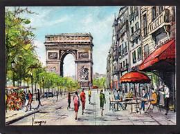 75  PARIS - PEDRO VARGAS Illustrateur -LES CHAMPS-ELYSEE L'ARC DE TRIOMPHE CPM 1968 EDIT KRISARTS   N°3 - Straßenhandel Und Kleingewerbe