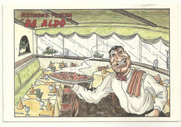 68 Cpm Mulhouse Publicité Restaurant Pizzeria Da Aldo Illustrateur Chabouté - Reclame