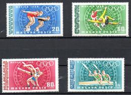 HONGRIE. PA 301-8 De 1968. J.O. De Mexico/Natation/Football/Lutte/Aviron/Escrime/Gymnastique. - Estate 1968: Messico