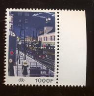 1000F. Delvaux. Gare De Nuit  TR432 ** Papier Normal - 1952-....
