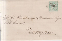 Año 1873 Edifil 133 10c Alegoria Carta Matasellos Rombo Barcelona Gallifa Hermanos Y Fabre - Cartas