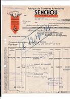 47-Senchou Frères...Fabrique De Conserves Alimentaires..Casseneuil...(Lot-et-Garonne)..1944 - Alimentare