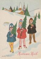 """5 Jolies CPA """"Heureux Noël"""" Des Célèbres éditions """" M. Barré & J. Dayez. Signées. Non Circulées. TB état. 6 Scan - Other"""