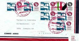 Mexico Vers Allemagne Sur Lettre 1992 Les Autobus - Bus