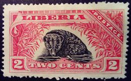 Liberia 1918 Animal Civette Yvert 141 (*) MNG - Liberia