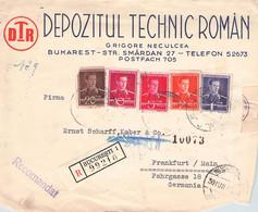 ROMANIA - FRAGMENT RECO 1943 BUKAREST > FRANKFURT /GA54 - Briefe U. Dokumente