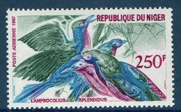Niger, Bird, Lamprocolius Splendidus, 1968, MNH VF, Airmail - Niger (1960-...)