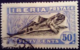 Liberia 1918 Animal Amphibie Yvert 148 O Used - Liberia