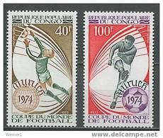 Congo 1973 Football Soccer World Cup Set Of 2 MNH - 1974 – West-Duitsland