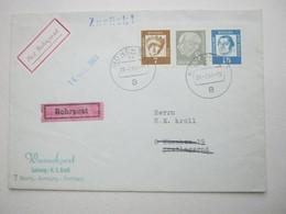 1963 , Rohrpost  München , Brief  1962  Mit Rohrpostaufkleber, Rs. Ankunftstempel - Briefe U. Dokumente