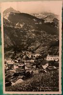 VALAIS: VAL DE BÂGNES - 1937 CHAMPSEC AVEC L'USINE ELECTRIQUE EN FOND...BELLE CARTE - VS Valais
