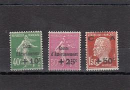 France - Année 1929 - N°YT 253/255** - Neuf** - Au Profit De La Caisse D'Amortissement - Nuovi