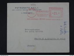 """4854 ITALIA Repubblica EMA-1954- Storia Postale """"Patronato ACLI"""" Ordinaria (descrizione) - Machine Stamps (ATM)"""