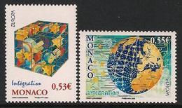 """MONACO  - EUROPA 2006 - TEMA """"INTEGRACIÓN"""".- SERIE De 2 V.- N - 2006"""
